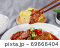 Delicious Korean food, a collection of various Korean dishes 312 69666404