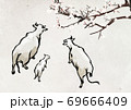 New year 2021, year of the ox ink painting illustration 005 69666409