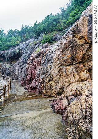 雨の仙酔島 遊歩道(広島県福山市) 69674377