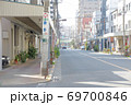 歓楽街として有名な吉原がある東京台東区千束2丁目の風景 69700846