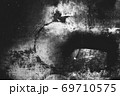 Image of old scratched surface texture in black and white 69710575