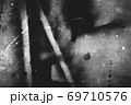Image of old scratched surface texture in black colors 69710576