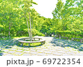 【都立公園】小山内裏公園 水辺の広場 大田切池【色鉛筆】 69722354