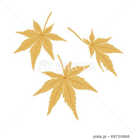 もみじの葉(黄色) 69730866
