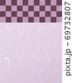 和柄背景 和風 和柄 日本的 和紙 フレーム 金屏風 古典的 市松模様  69732807