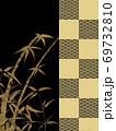和柄背景 和風 和柄 日本的 和紙 フレーム 金屏風 古典的 市松模様  69732810