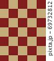 和柄背景 和風 和柄 日本的 和紙 フレーム 金屏風 古典的 市松模様  69732812
