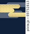 和柄背景 和風 和柄 日本的 和紙 フレーム 金屏風 古典的 市松模様  69732813