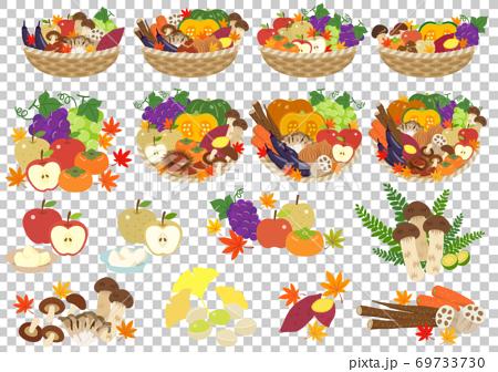 秋季蔬菜和水果 69733730
