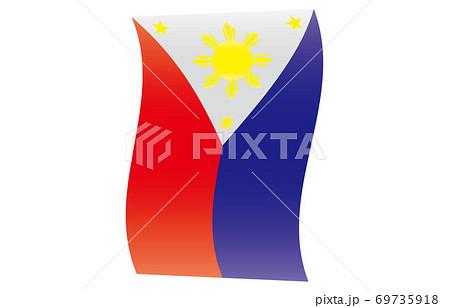 新世界の国旗2:3Verグラデーション縦波形 フィリピン 69735918