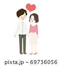 仲のいい夫婦のイラスト 69736056