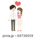 仲のいい夫婦のイラスト 69736059