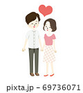ラブラブな夫婦のイラスト 69736071