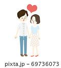 仲良し夫婦のイラスト 69736073