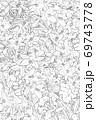 白黒の百合背景 69743778