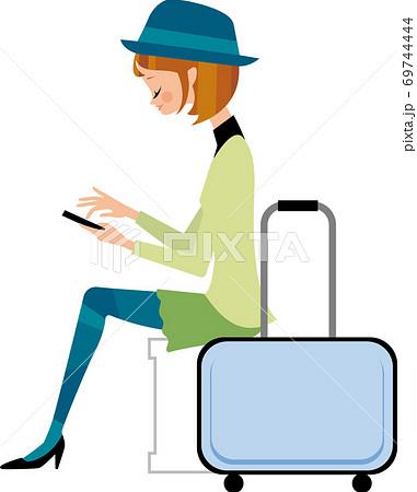 若い女性の一人旅 69744444