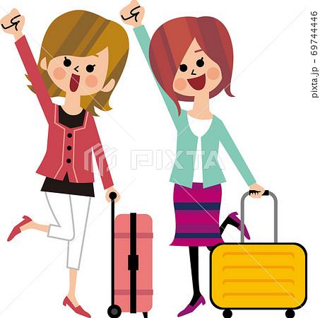 若い女性の友だち旅行 69744446