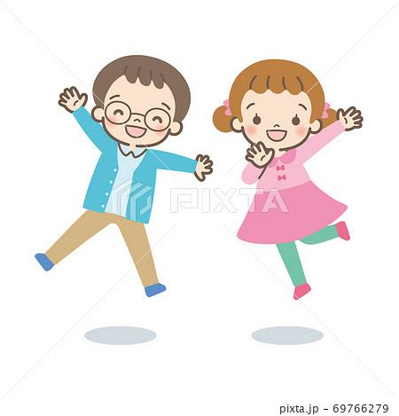 Children jumping 69766279