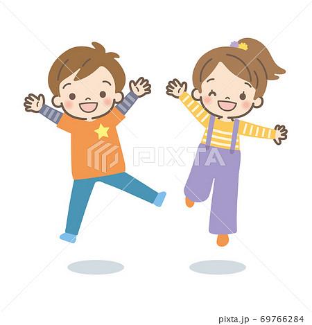Children jumping 69766284
