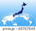 ビジネス背景 日本地図 世界地図 ビジネスイメージ グローバル  69767649