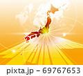 ビジネス背景 日本地図 世界地図 ビジネスイメージ グローバル  69767653