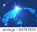 ビジネス背景 日本地図 世界地図 ビジネスイメージ グローバル  69767655
