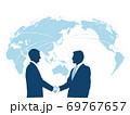 ビジネス背景 日本地図 世界地図 ビジネスイメージ グローバル  69767657