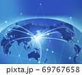 ビジネス背景 日本地図 世界地図 ビジネスイメージ グローバル  69767658