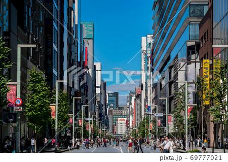 【東京都】銀座の街並み 69777021