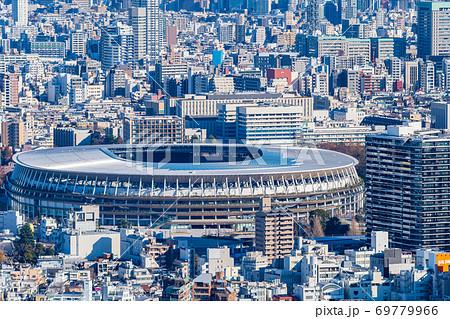 渋谷 スクランブルスクエアから新国立競技場を眺める 69779966