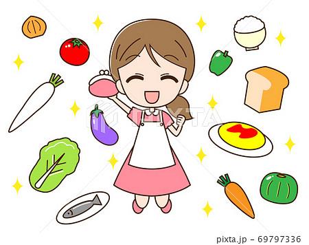 食料品を買う主婦 69797336