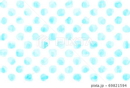 水彩の水玉模様 69821594