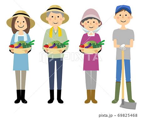 農家の人々 働く人 69825468