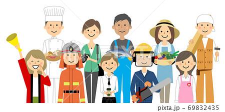 街の人々 働く人 69832435