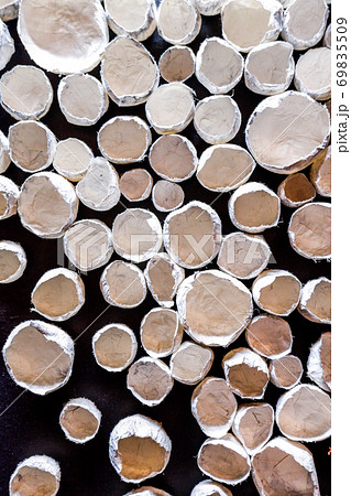 和紙の造形物壁面 69835509