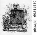 植物を置いているドア 69841530