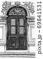 装飾的なアンティークドア 69841531