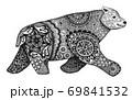 オシャレな模様のクマ 69841532