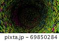 ぶくぶく 泡 トンネル カラフル 動き 体内  69850284