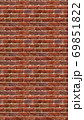 縦長サイズの茶色い赤レンガの壁紙。シームレスパターン素材 69851822