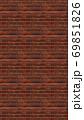 縦長サイズの茶色い赤レンガの壁紙。シームレスパターン素材 69851826