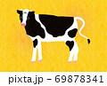 丑年-年賀状テンプレートえ-3テク 69878341