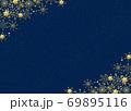 雪の結晶 背景 青 金粉 69895116