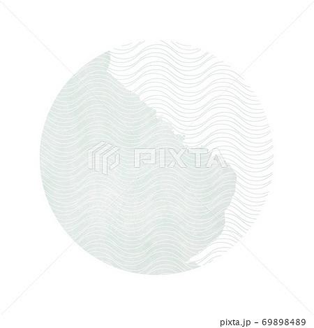 和柄 円 水彩 抽象的なイラスト【1:1】 69898489