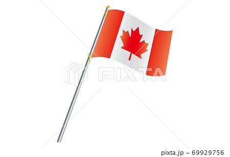 新世界の国旗2:3Verグラデーション波ポール カナダ 69929756