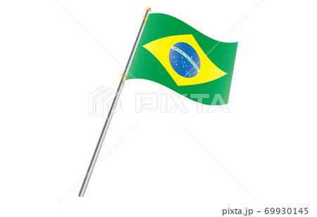 新世界の国旗2:3Verグラデーション波ポール ブラジル 69930145