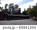 天宮神社、本殿、拝殿周りの趣のある塀 69941304
