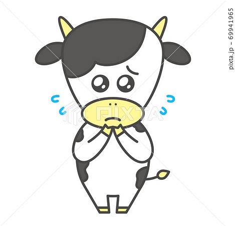 牛のキャラクター 基本ポーズ ぴえん 69941965