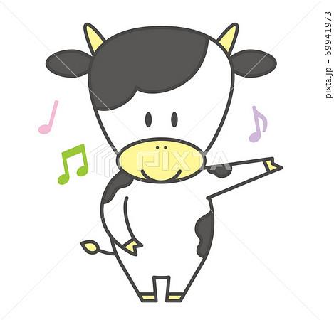 牛のキャラクター 基本ポーズ 案内 69941973
