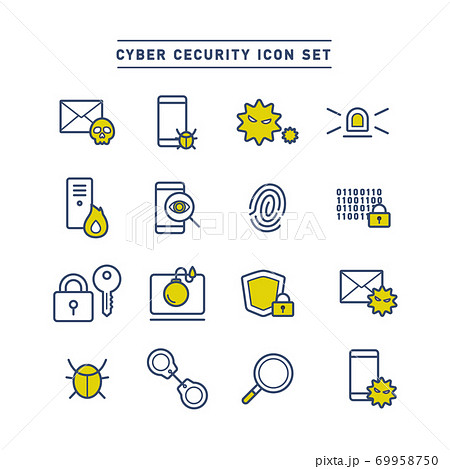 CYBER SECURITY ICON SET 69958750